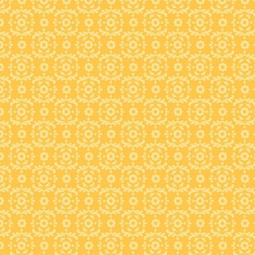 Riley Blake - Summer Song 2 Damask (Yellow) Fabric